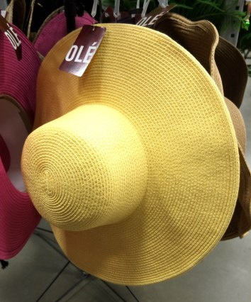 YELLOW hat hoping for sunshine